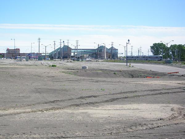 Belvedere LRT Station site (June 2010)