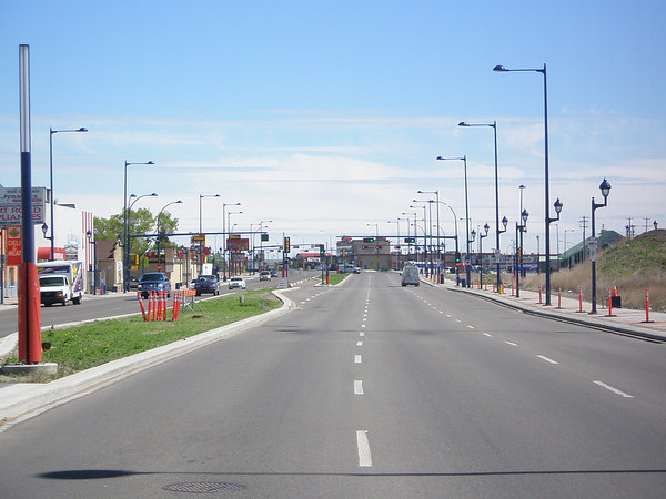 Fort Road Widening and median complete (June 2010)