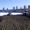 South side: compacting, February 2013.