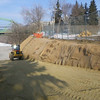 North side: granular material on access road, March 2013.