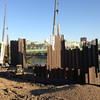 The pilings along the south side of the river, September 2013.