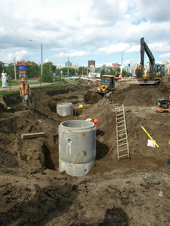 Drainage work, August 2013.