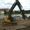 Work on south river bank, August 2013.