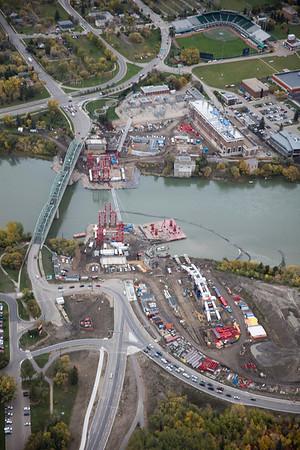 Walterdale Bridge Aerial View - October 2015