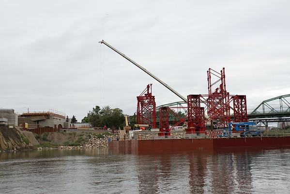 Walterdale Bridge Replacement Construction - August 2015