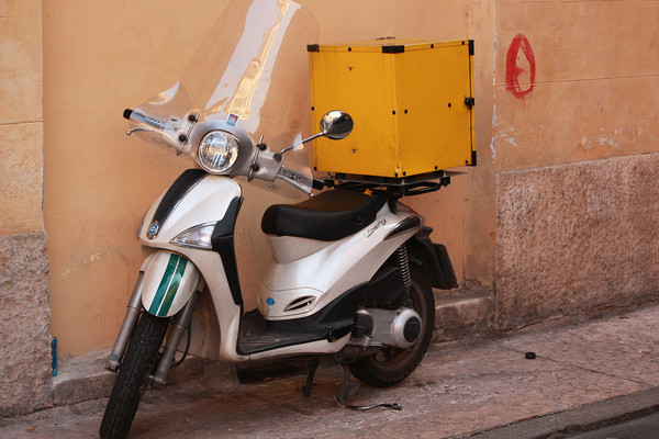 Italy, Verona, Delivery Scooter