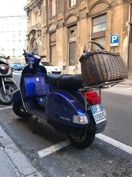 Vespa Scooter snapped in Trieste, Italy