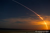SpaceX Falcon-9 launch from Canaveral AFB, seen from Crescent Beach.  1:36AM 8/14/2016.   Just a little later, you could see the booster fire as it landed on a barge 200 miles east of the cape.