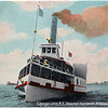 Cayuga Lake,N.Y. Steamer Frontenac, Brownline. (Photo ID: 30460)