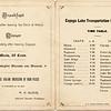 Steward Steamer Frontenac timetable. (Photo ID: 28596)