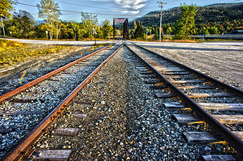 One way or the other - tracks at Fabyan Station, NH