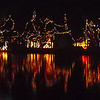 Edaville Railroad - December 2010 - Christmas lights reflecting around the pond