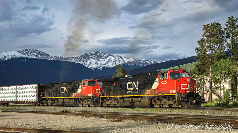 Canadian National westbound in Jasper