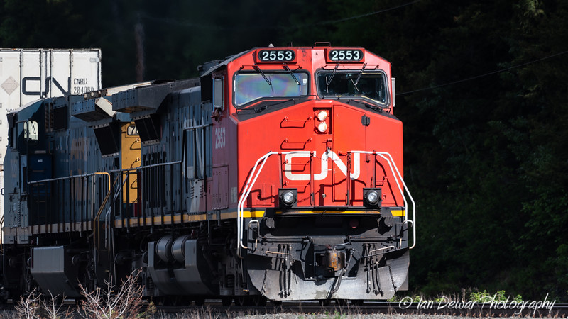 Eastbound CN Freight in the sunlight