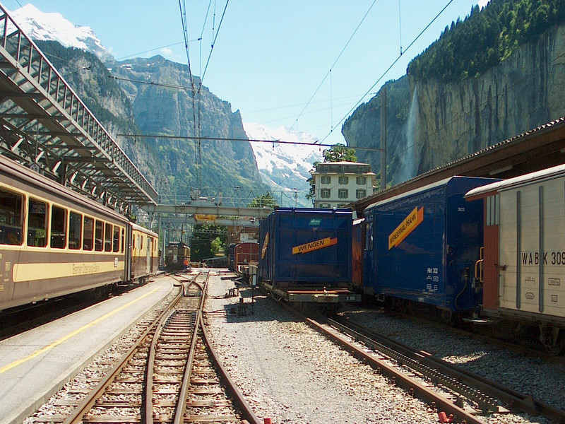 Lauterbrunnen Train Station in Switzerland