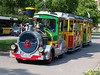 Tourist Train in downtown Interlaken, Switzerland