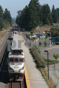 Train station in East Olympia, Washington.