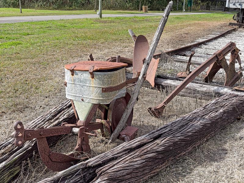 Old Railroad Gear outside Brooksville Railroad Depot