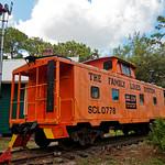 SCL Caboose at Sulphur Springs Depot