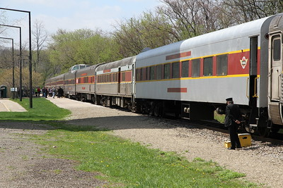 Cuyahoga Valley Scenic Railroad at Akron Northside Station, Akron, Ohio