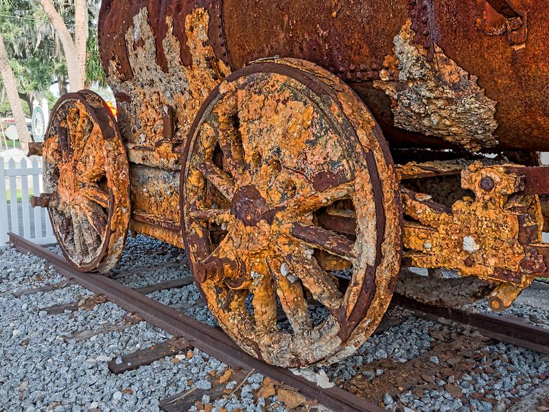 Manchester 4-4-0 steam locomotive in Mulberry, Florida