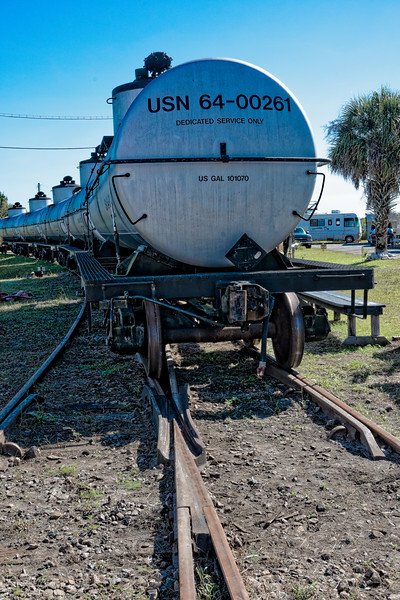 Navy Railroad Tank Cars at St. Marys Georgia