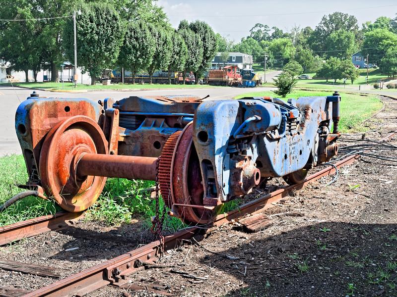 Old Train Wheel Set at Bridgeport Depot