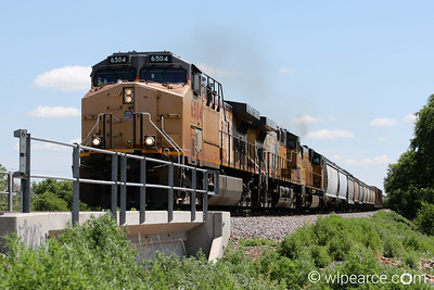 UP 6504 heading up the coal train headed west out of Amarillo, TX.