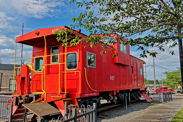 Caboose on Display at Selma's Union Station