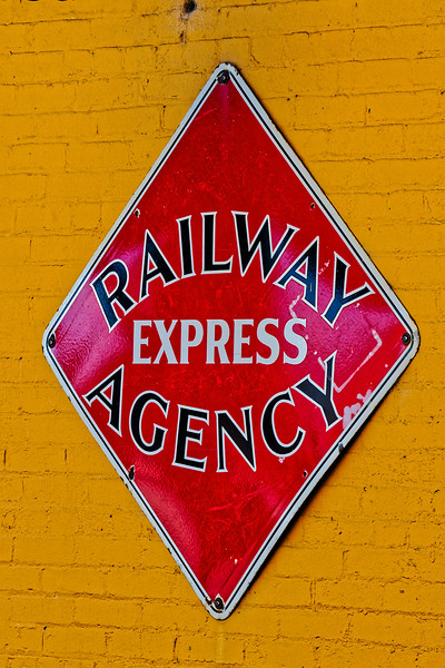 Railway Express Agency Sign at Huntsville Depot