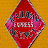 Railway Express Agency Sign at Huntsville Depot
