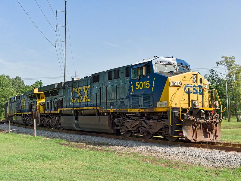 CSX Diesel Locomotive 5015 at Bridgeport Depot