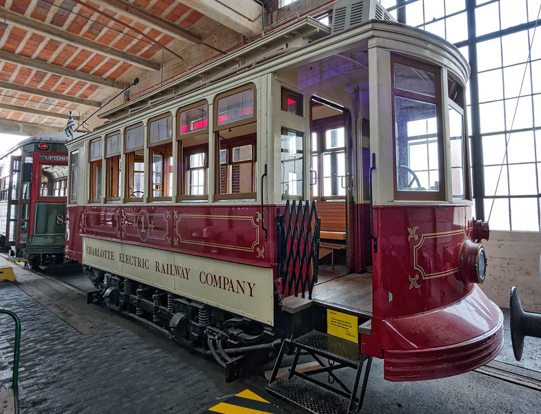Antique Charlotte Electric Railway Company Trolley