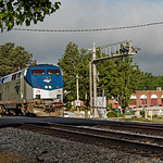 Amtrac Passenger Train Enters Thomasville
