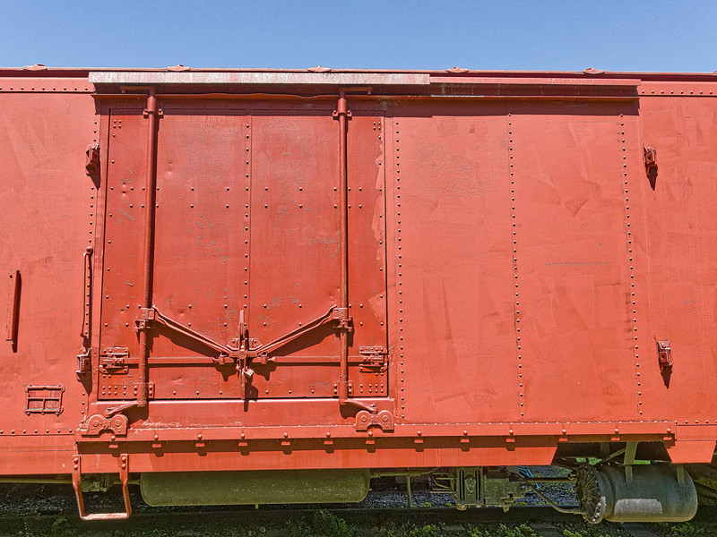 Door of Boxcar on display at Crystal River Train Depot