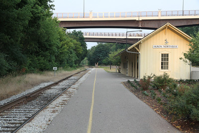 Akron Northside Station on the Cuyahoga Valley Railroad