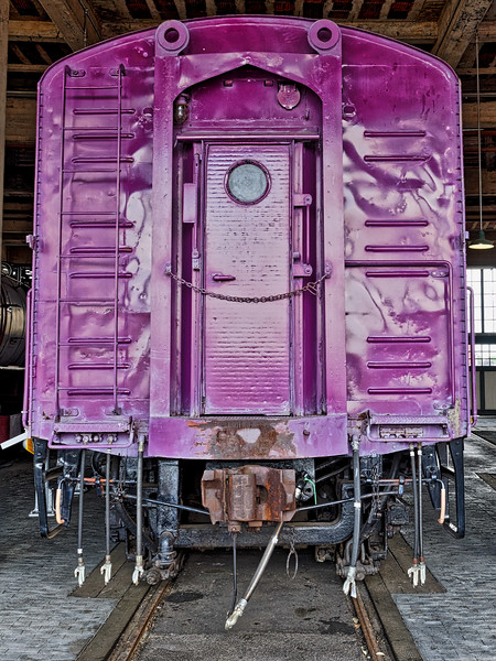 Antique Railroad Car on Display