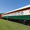 Passenger rail car on display at Historic Crystal River Train Depot, built 1901-1902. Crystal River, Florida.