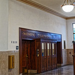 Wooden Benches, Phone Booths and Signs of Greensboro Depot