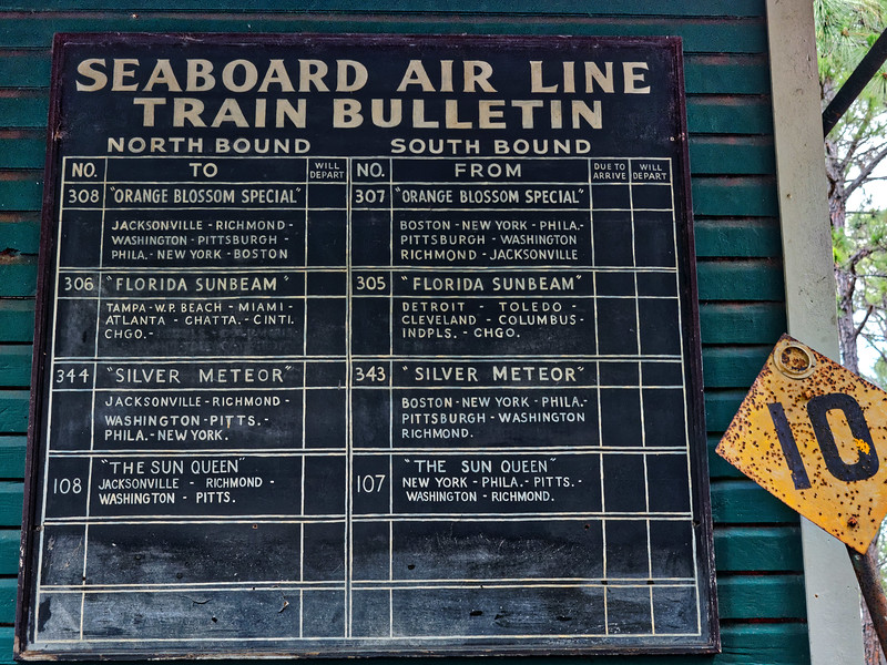 Antique Train Schedule at Heritage Village