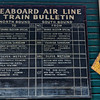 Antique Train Schedule at Heritage Village