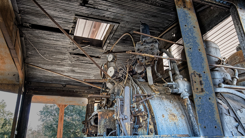 Cab of Cummer Lumber Co. Steam Locomotive