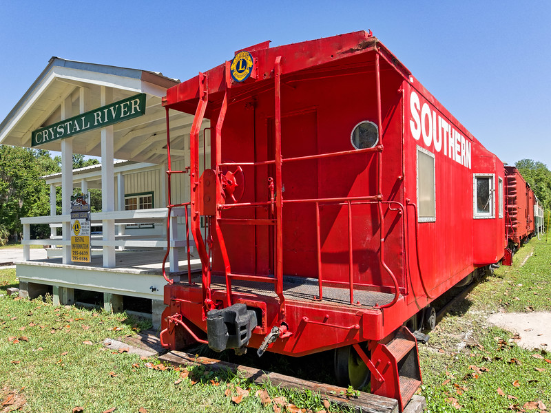 Caboose and Historic Crystal River Train Depot