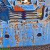 Closeup of Old Train Wheel Set