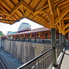 Covered Walkway over Tracks at High Point Station
