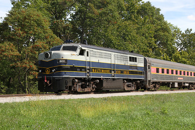 Baltimore and Ohio diesel pulling the Cuyahoga Valley RR