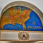Clock and Map of Southern Railway System