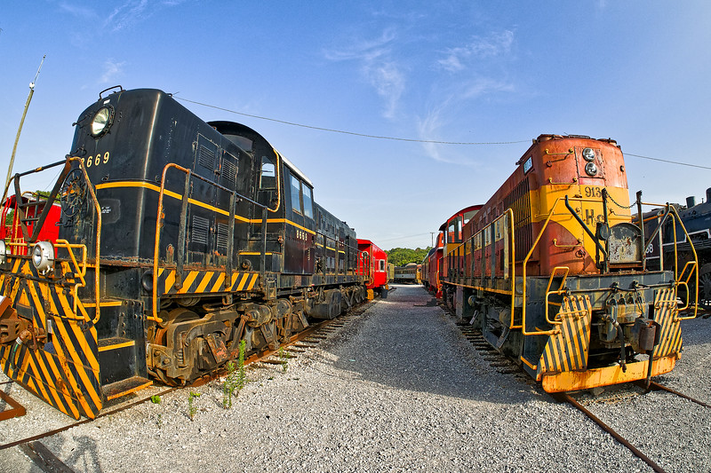 Locomotives on Display at Chattanooga Grand Junction