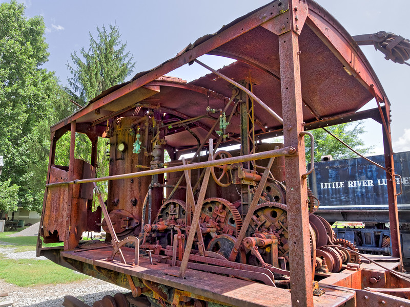 Old Railroad Crane at Little River Railroad