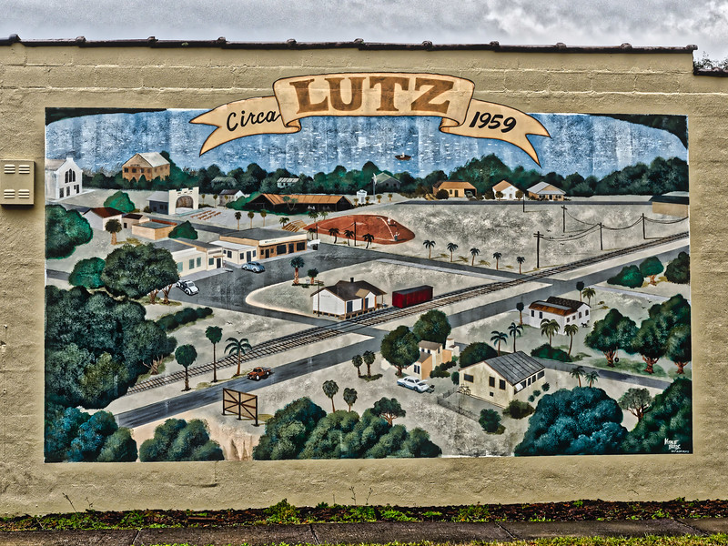 Lutz, Florida circa 1959 Mural